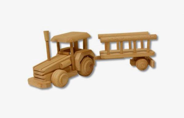 AD102 Hračka - traktor s vlečkou