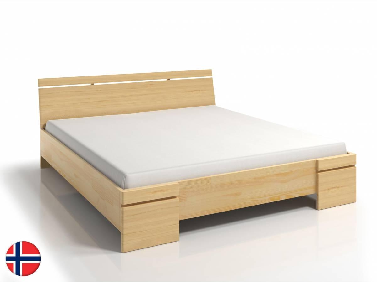 Manželská posteľ 140 cm Naturlig Bavergen Maxi ST (borovica) (s roštom a úl. priestorom)