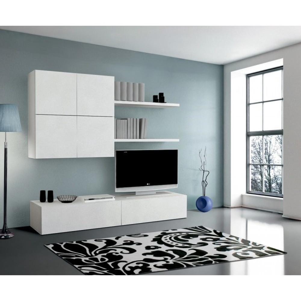 Biela drevená obývacia stena Esidra Diego
