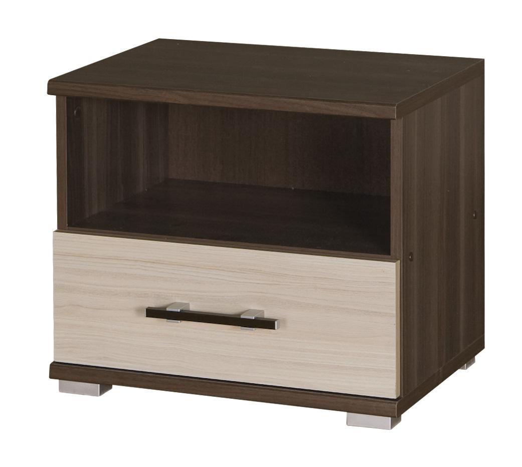 Nočný stolík I16 (jaseň tmavý + jaseň)