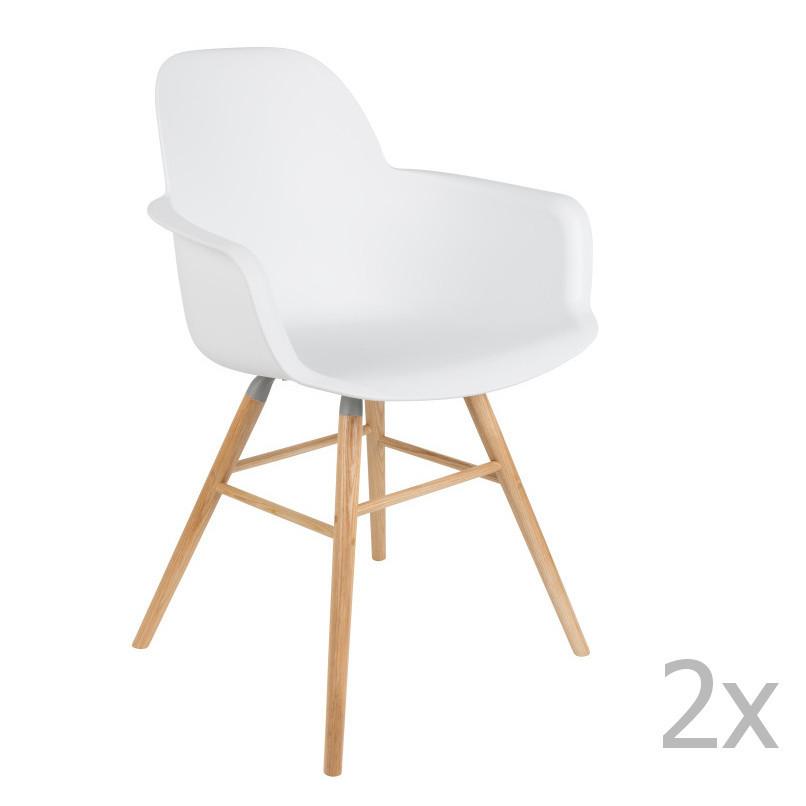 Sada 2 bielych stoličiek s operadlom Zuiver Albert Kuip