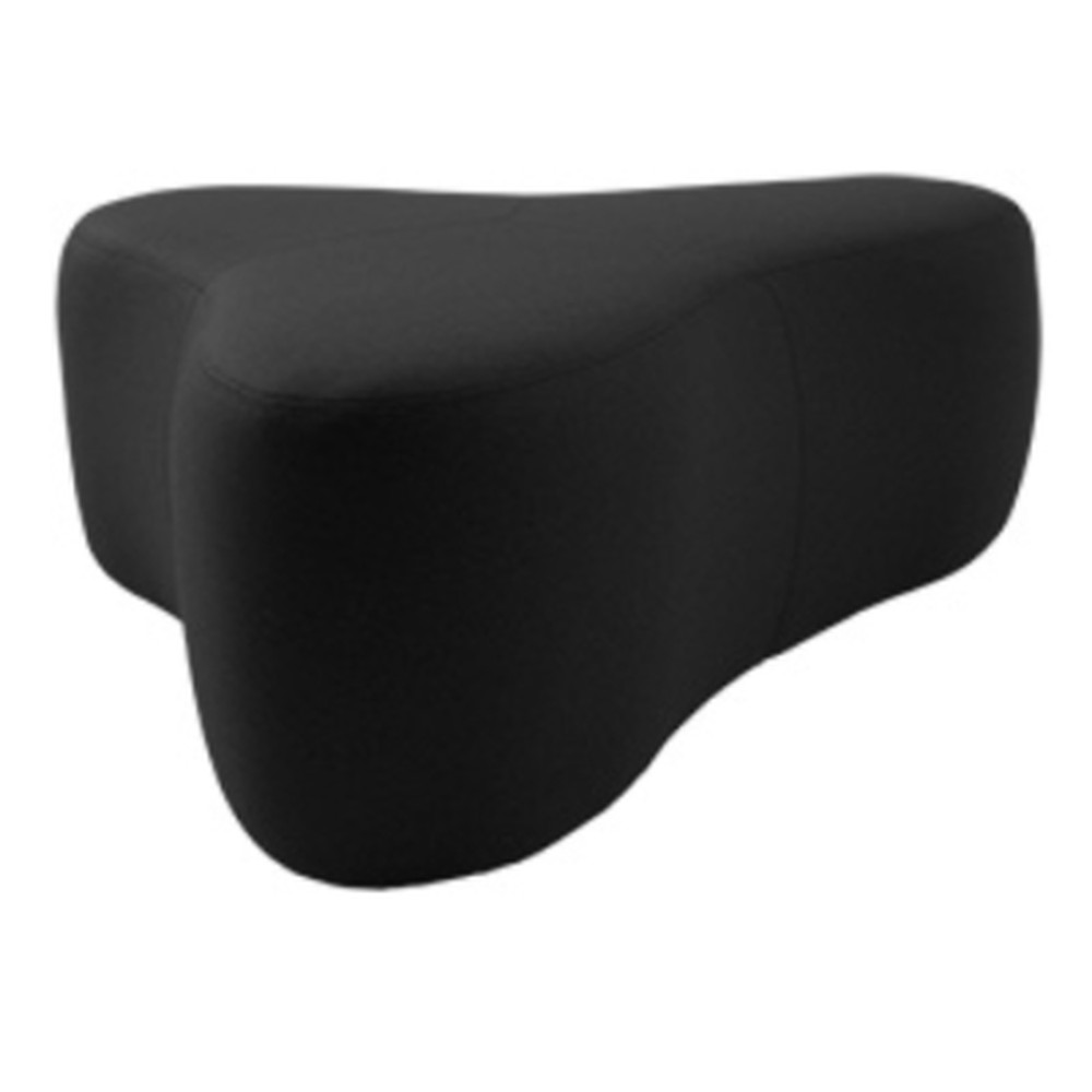 Čierny puf Softline Chat Valencia Black, dĺžka 130 cm