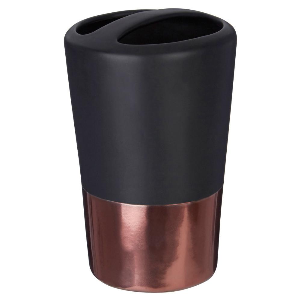 Čierny pohárik na zubné kefky Premier Housewares Alpha