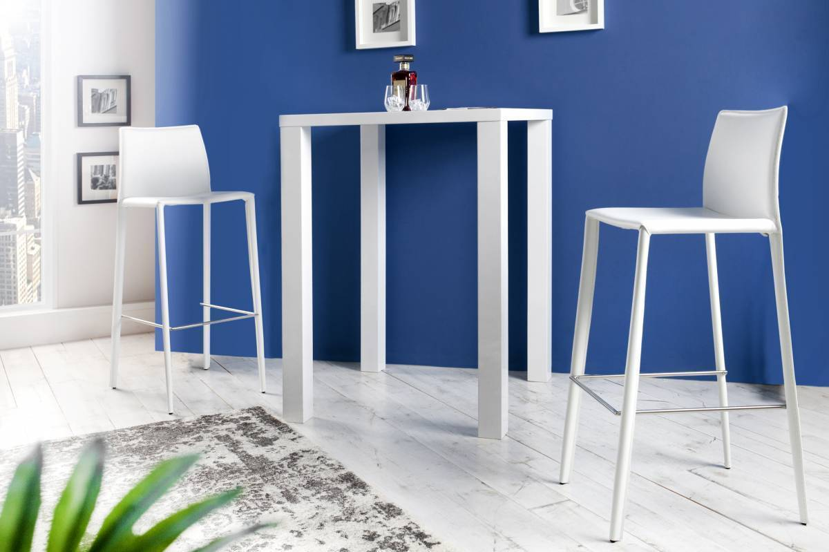 Barová stolička MINOLA - biela