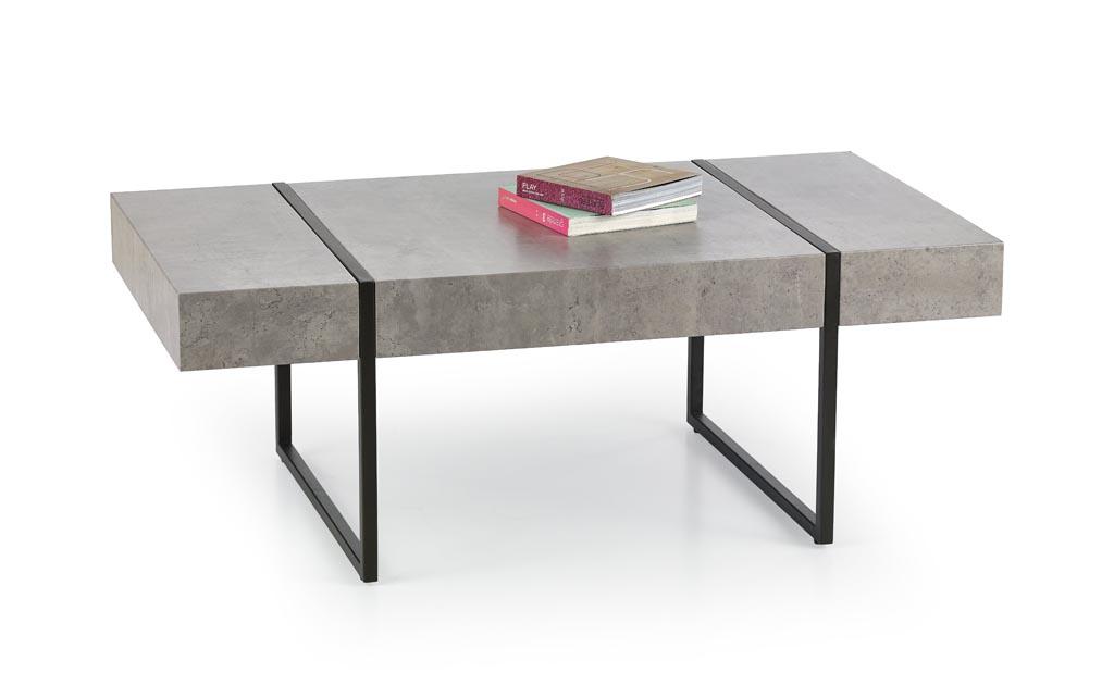 Konferenčný stolík Tiffany (betón + čierna)