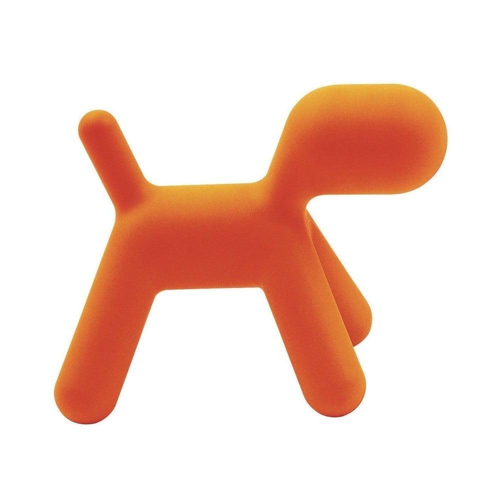 Oranžová detská stolička v tvare psa Magis Puppy, výška 81 cm