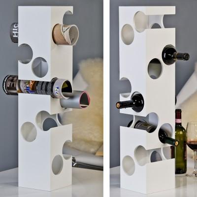 Stojan na víno CORNER - biela