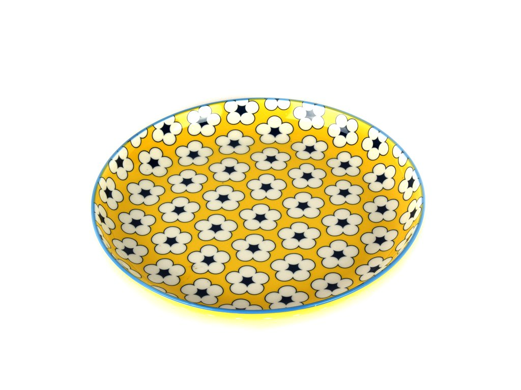 Dezertný tanier Cotton Bud žltý 18,5 cm