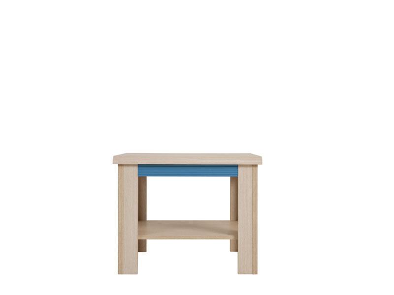 Konferenčný stolík Caps LAW/60   Farba: dub jasný belluno/ modrá