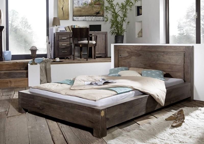 METRO POLIS #135 Sheesham posteľ 140x200, masívne palisandrové drevo