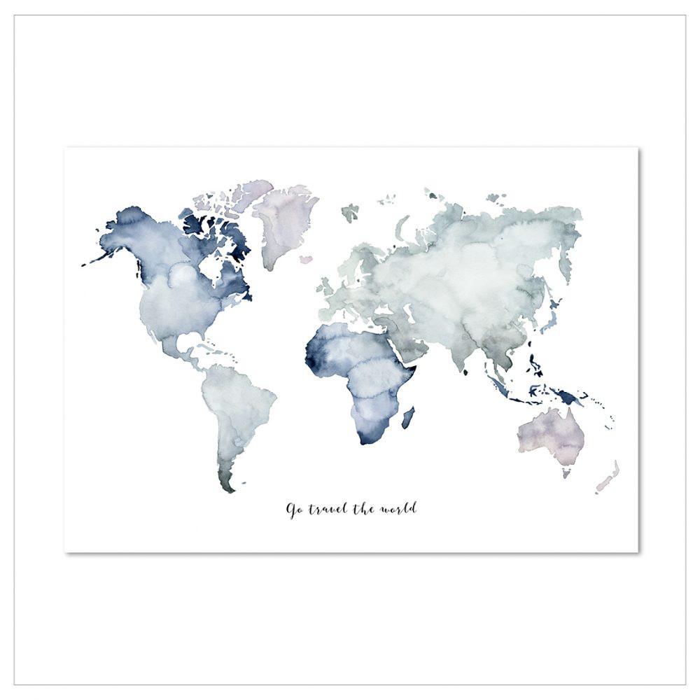 Plagát Leo La Douce Go Travel The World, 50x70cm