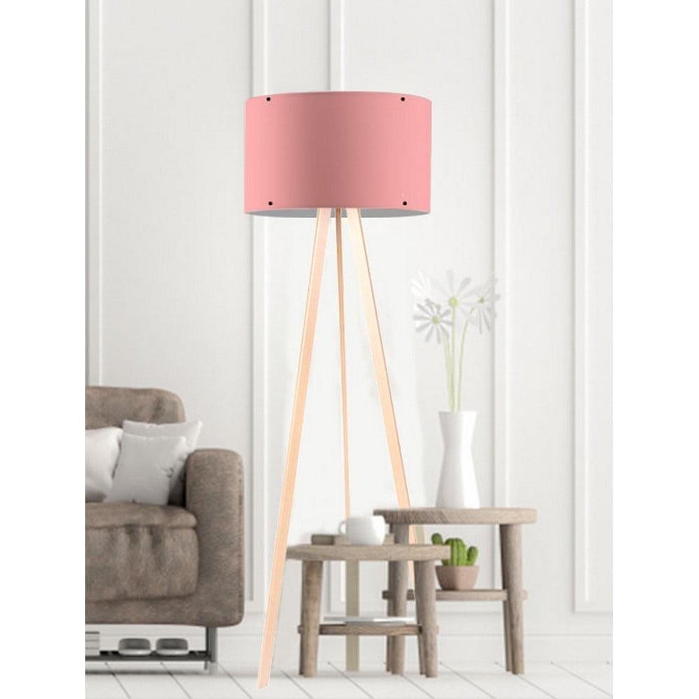 Svetloružová stojacia lampa Simple