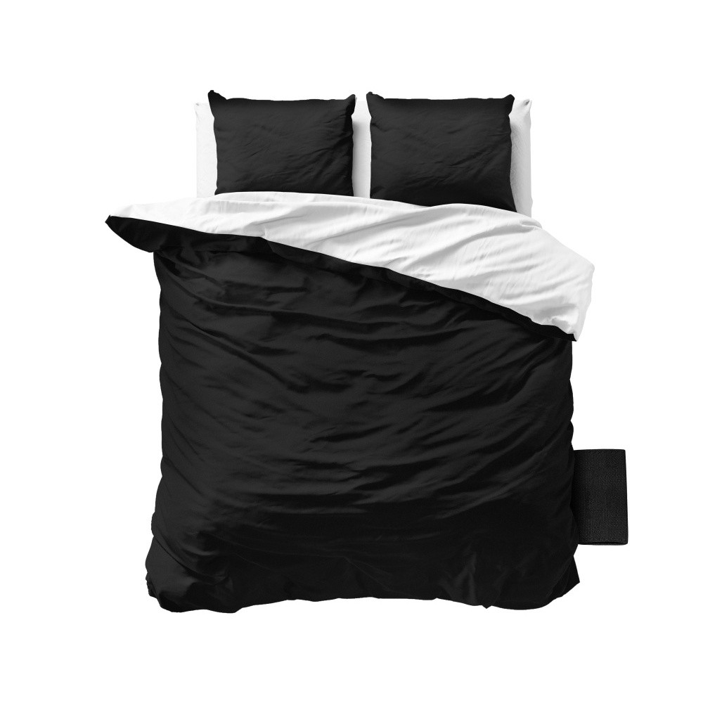Čierno-biele obliečky z mikroperkálu Zensation Twin Face, 240 x 200 cm