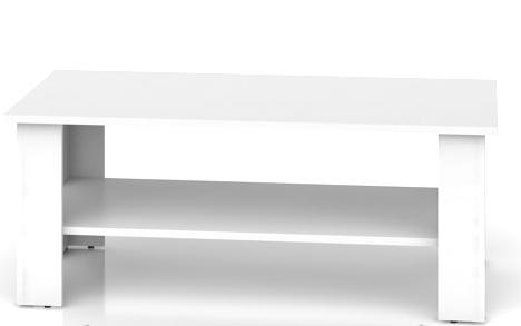 Konferenčný stolík Nepo LAW/115   Farba: Biela
