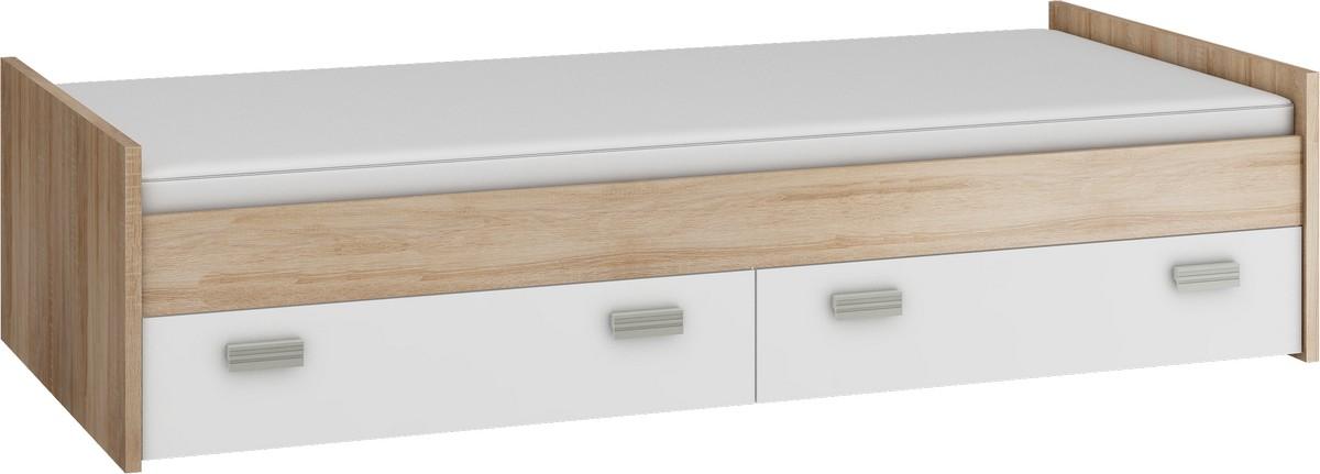WIP KITTY KIT-04 posteľ s roštom - sonoma svetlá / biela