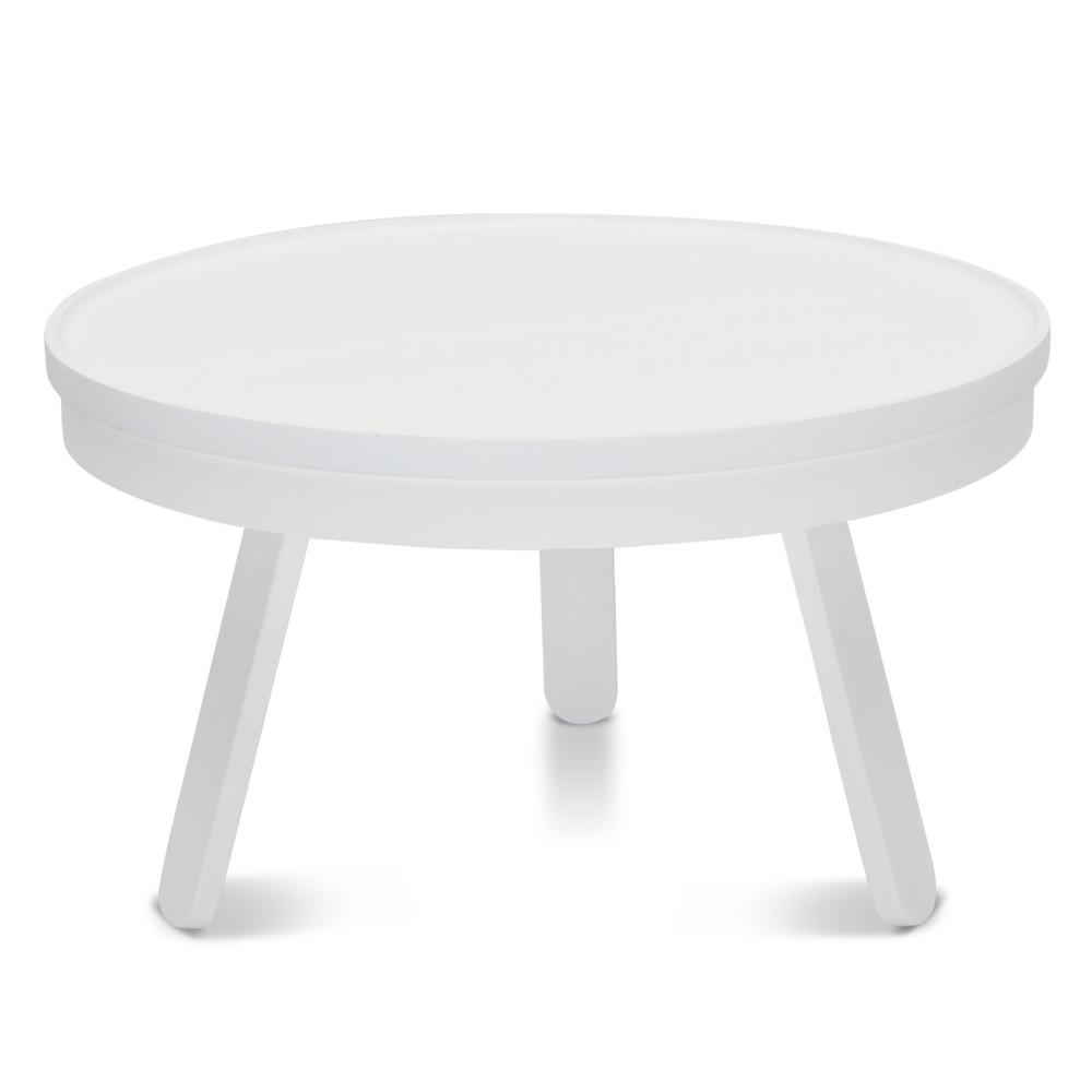 Biely odkladací stolík s úložným priestorom Woodendot Batea M