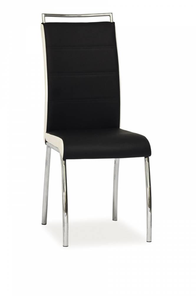 Jedálenská stolička H-442 (ekokoža čierna + biela)