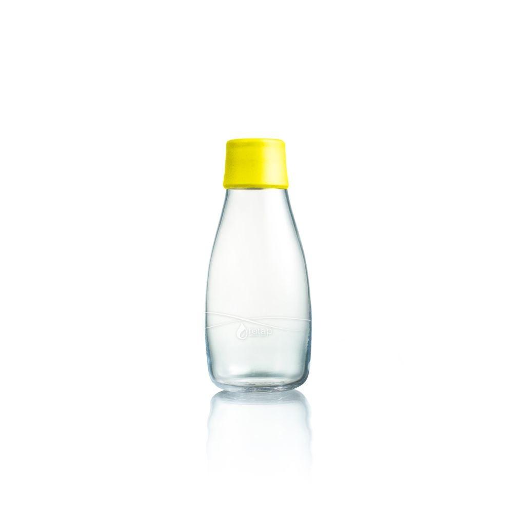 Žltá sklenená fľaša ReTap s doživotnou zárukou, 300ml