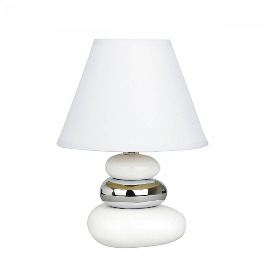 Stolná lampa Salem, bielo-strieborná, Rabalux 4949