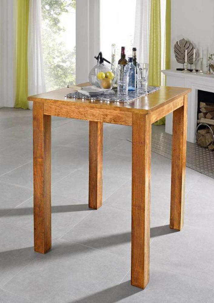 Bighome - CAMBRIDGE HONEY barový stôl masívna akácia, medová