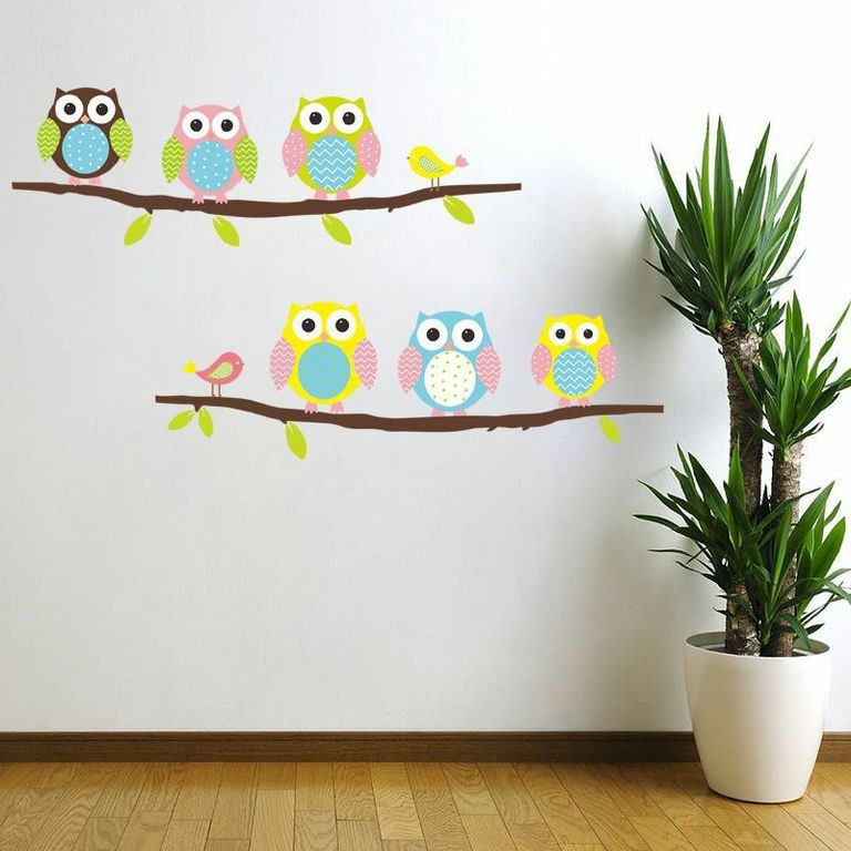 Samolepka Owls and Birds on Tree