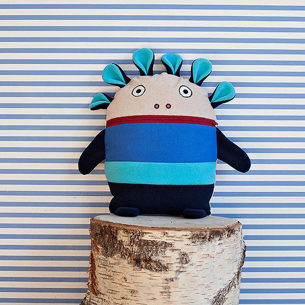 Modrý pyžamožrút Bartex, 35x30cm