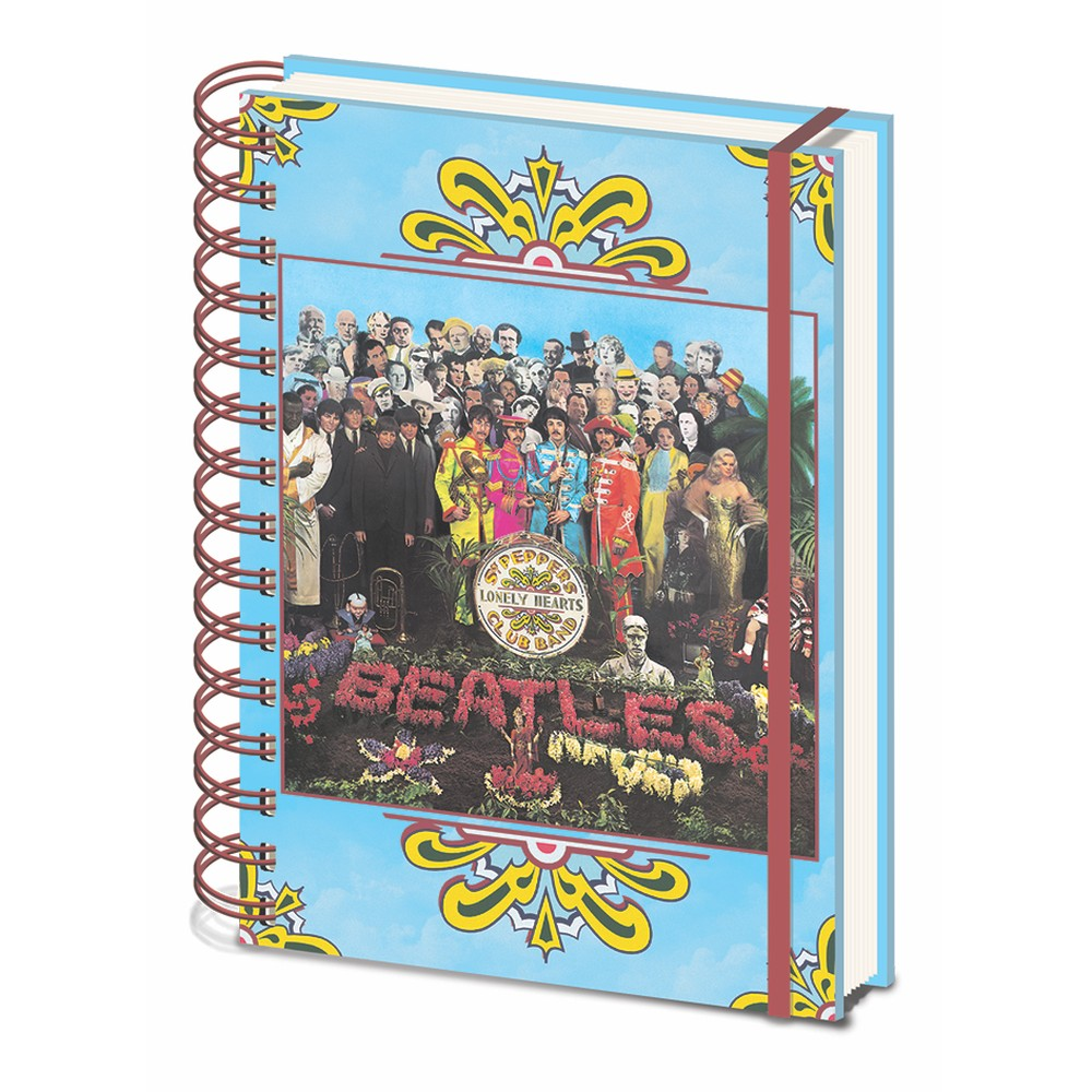 Linajkový zápisník A5 Pyramid International The Beatles Sgt. Pepper´s, 80 strán
