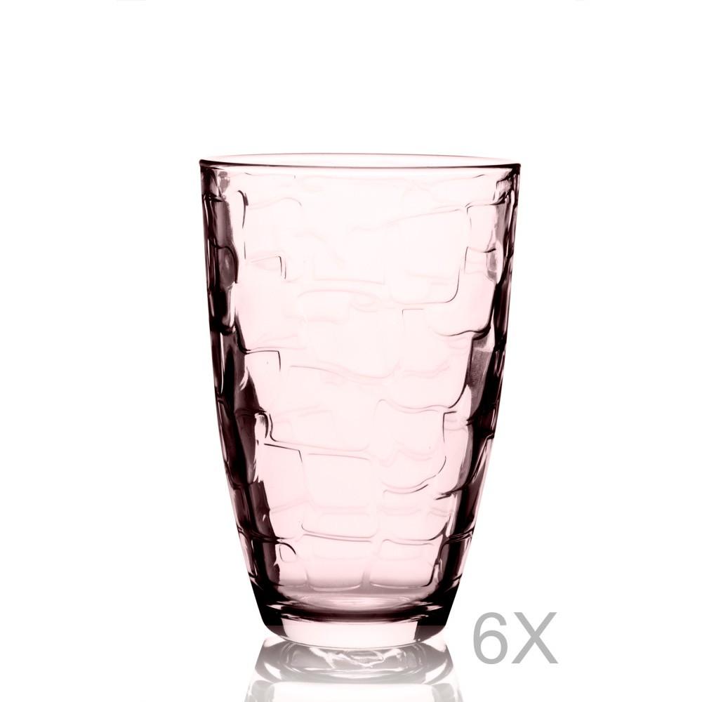 Sada 6 oranžových pohárov Pasabahce, 265 ml