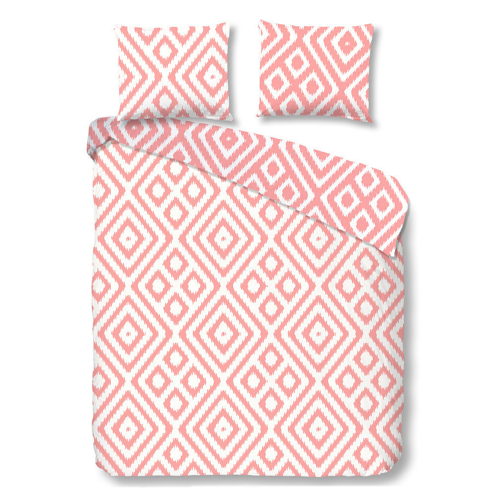 Ružové bavlnené obliečky Müller Textiels Frits, 200 x 200 cm