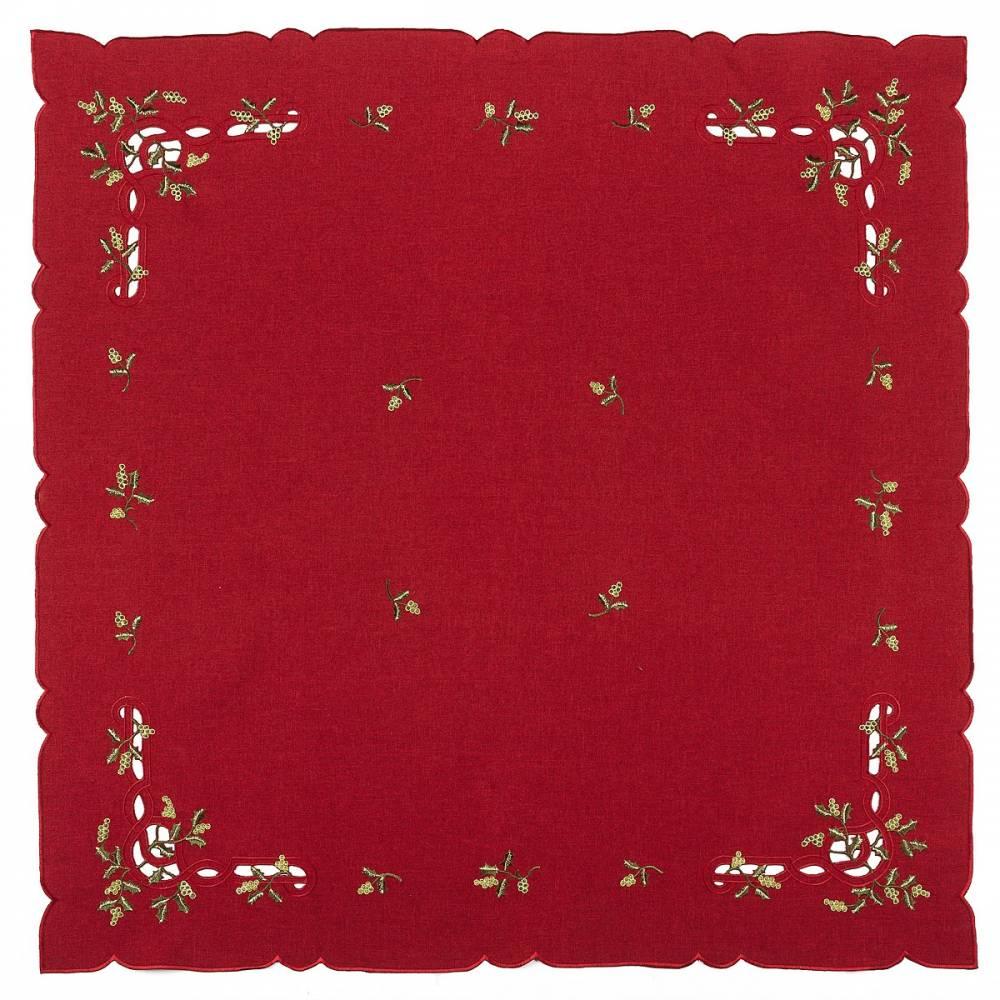Forbyt Vianočný obrus imelo červená, , 85 x 85 cm