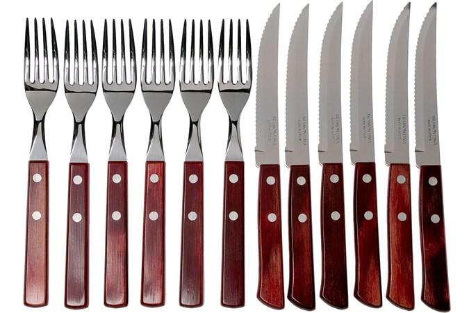 Sada príborov na steak Churrasco Tramontina červené 12 ks