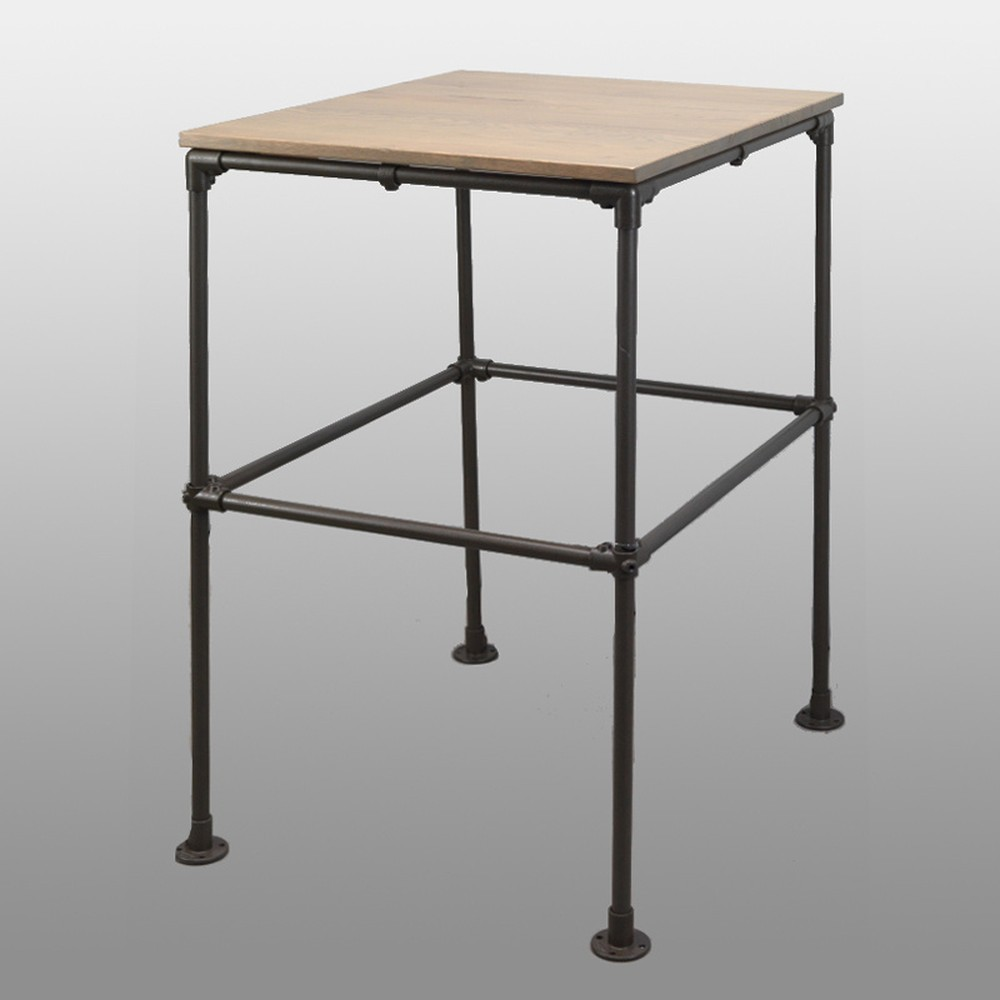 Barový stolík s doskou z dubového dreva Simla Bar