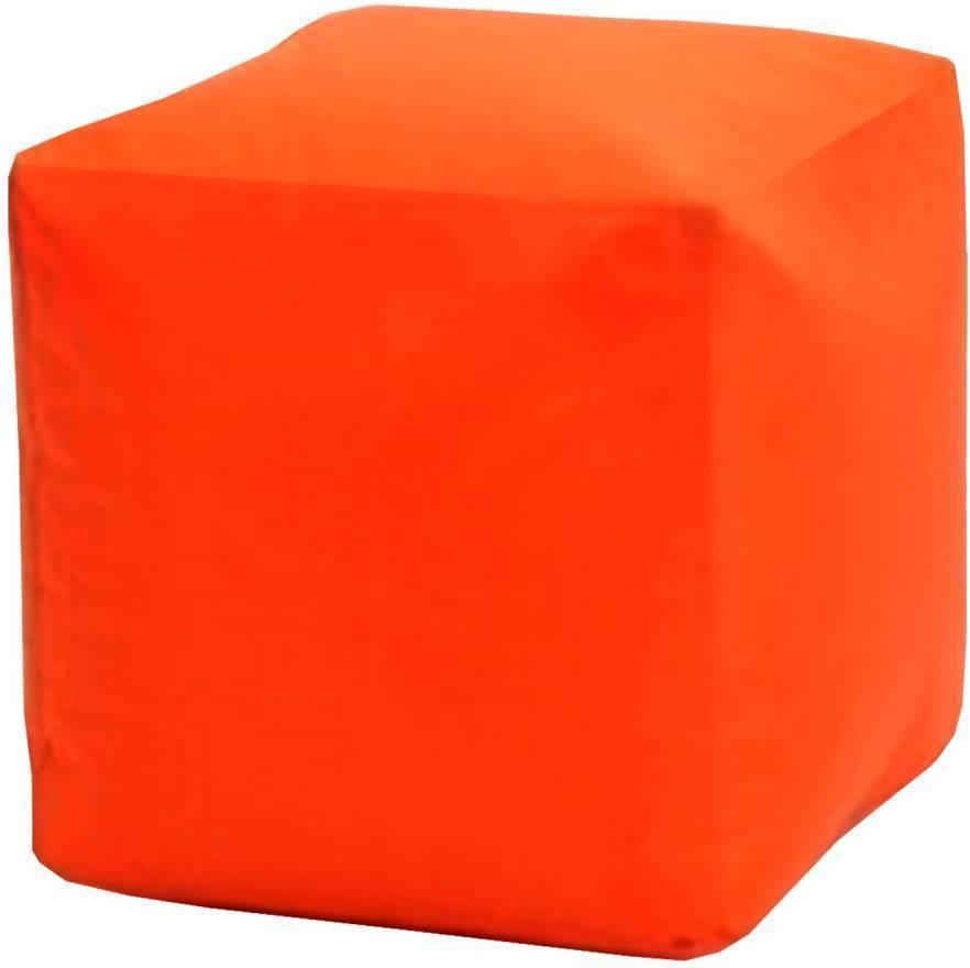 Sedací taburet CUBE oranžový