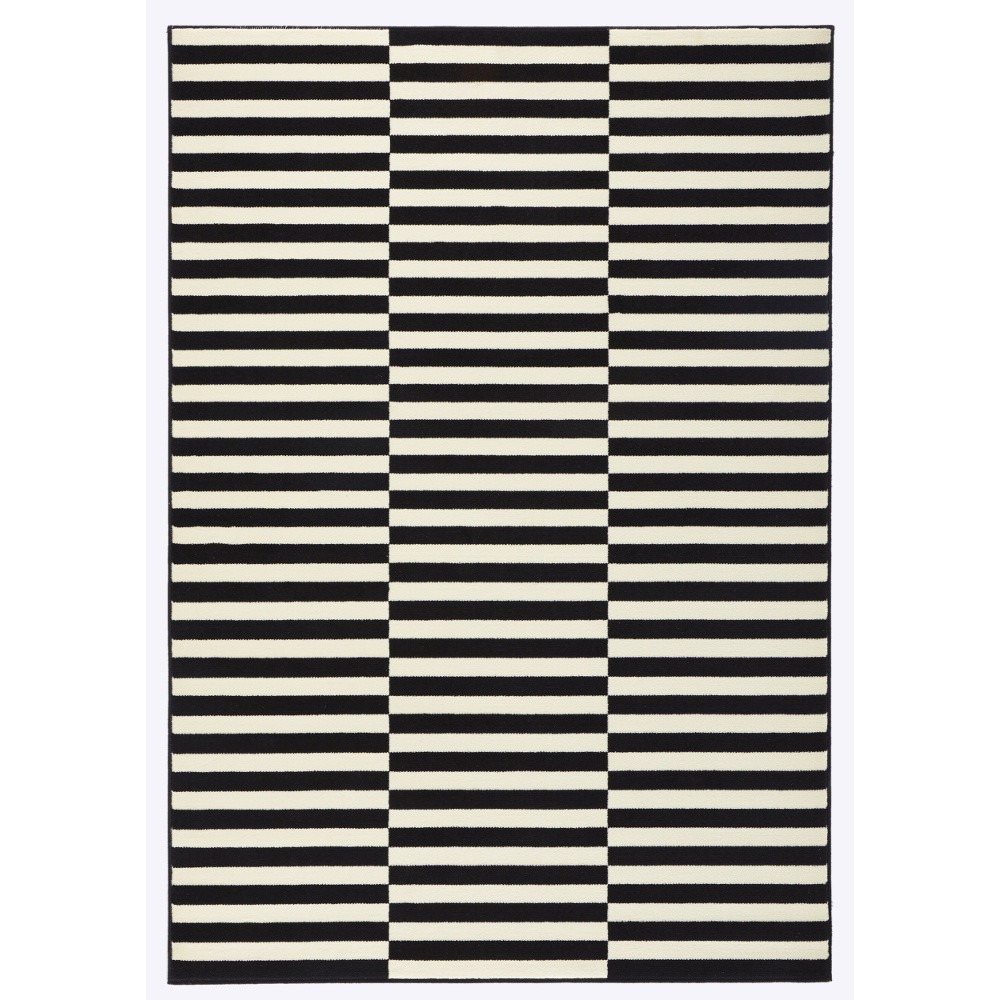 Čierno-krémový koberec Hanse Home Gloria Panel, 160 x 230 cm