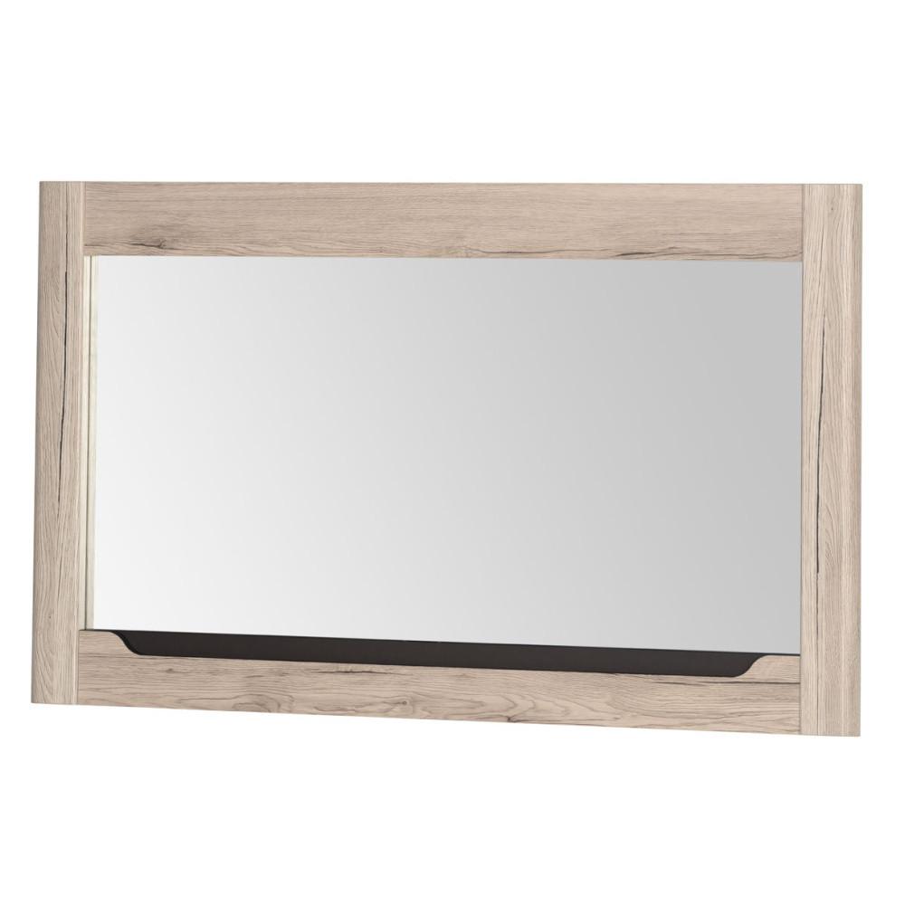 Nástenné zrkadlo s rámom v dubovom dekore Szynaka-Meble Desjo,118x70cm