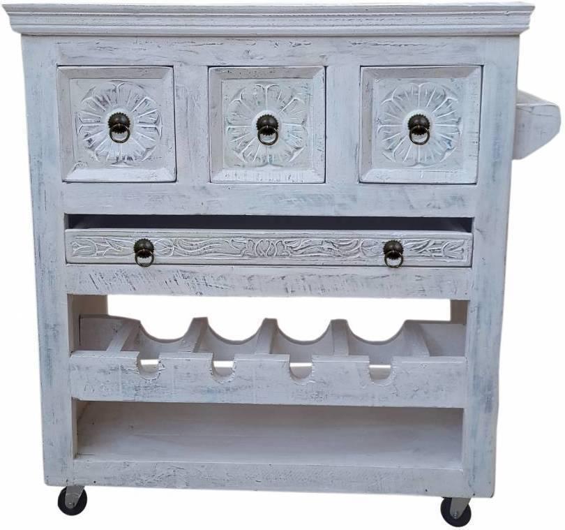 Príručný stolík HARBOR - biela