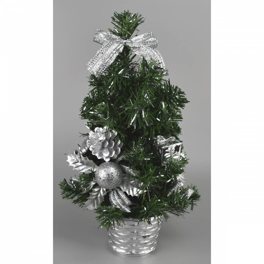 Vianočný stromček Vestire strieborná, 35 cm