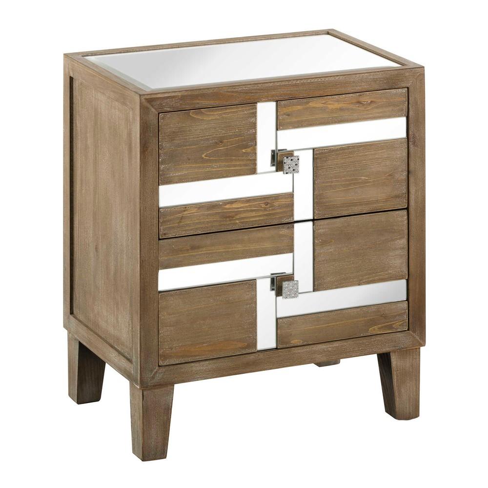 Nočný stolík z jedľového dreva Tropicho Mirror