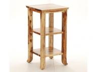 Furniture nábytok  Masívny stolík / polica z Palisanderu  Nág  41x41x75 cm