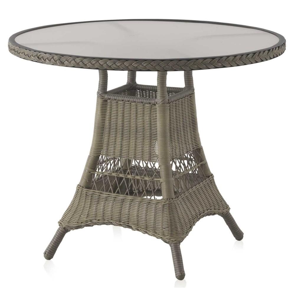 Záhradný jedálenský stôl Geese Synthe, ⌀ 77 cm