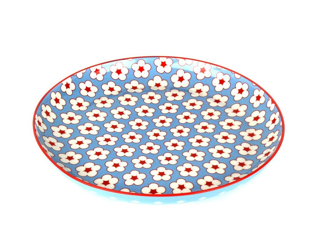 Plytký tanier Cotton Bud svetlomodrý 23 cm