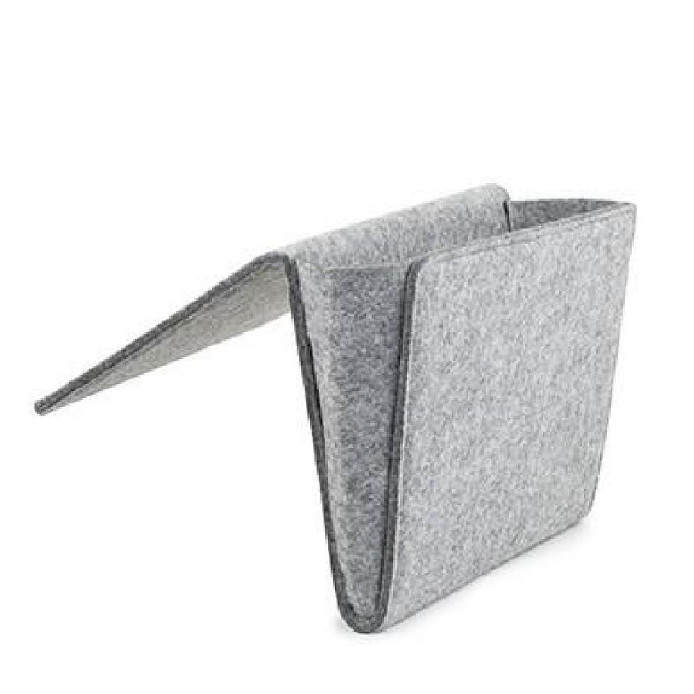 Sivé plstené úložné vrecko Kikkerland, šírka 28,2 cm