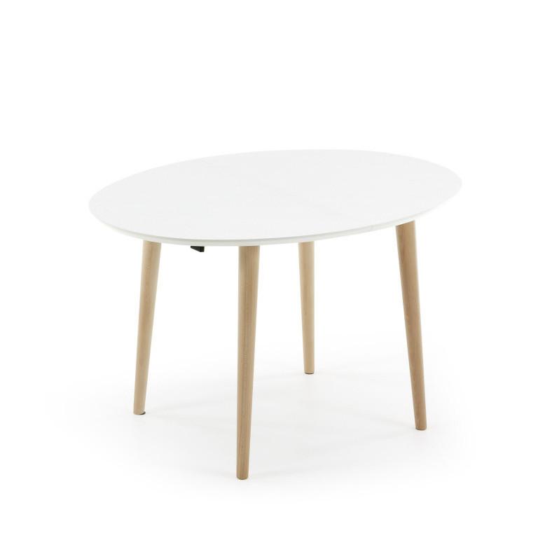 Biely rozkladací jedálenský stôl La Forma Oakland, 120-200 cm