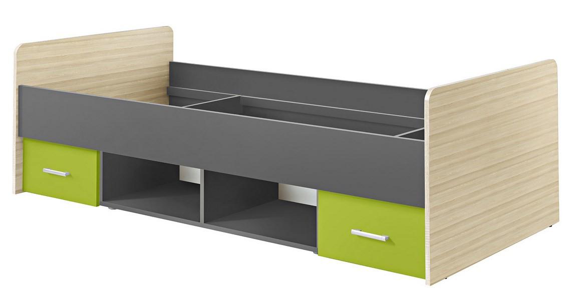 Jednolôžková posteľ 90 cm Paulina limetka MOB-5065