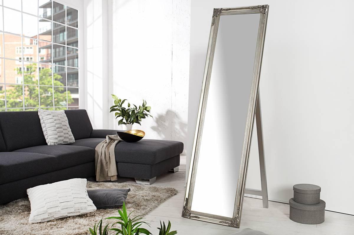 Zrkadlo stojace 160x45cm VERSAIL - strieborná