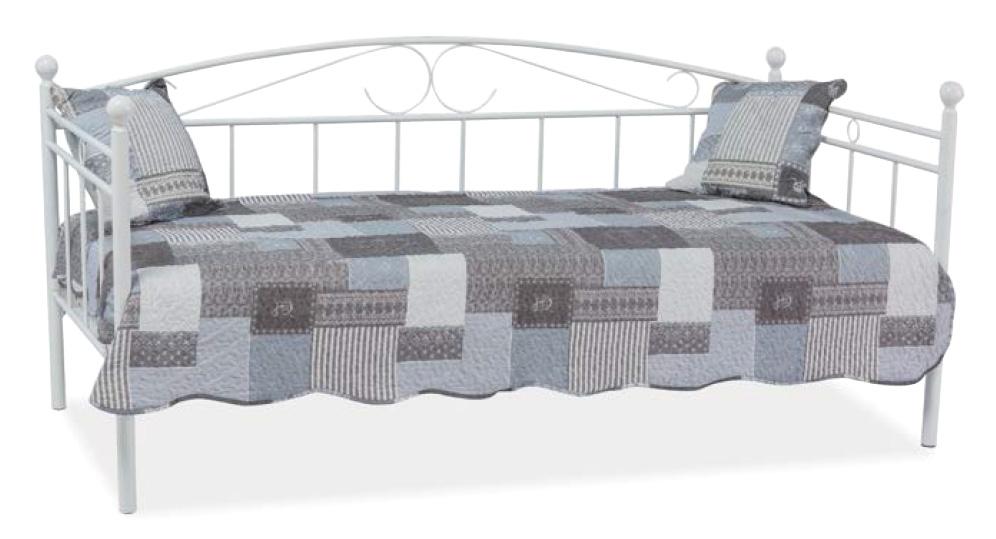 Kovová posteľ ANKA, biela