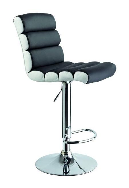 Barová stolička CB-617, čierno-biela