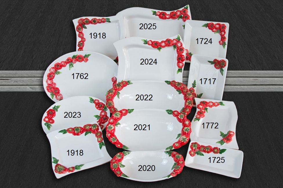 Set Paradajka 13, Set Paradajka 13 Tanier 1725
