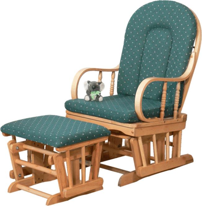 Relaxačné kreslo, drevo látka buk zelené, RELAX GLIDER 87107