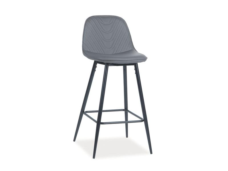 TEODOR barová stolička, sivá